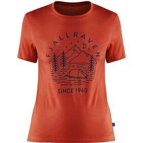 Fjällräven Abisko Tältplats T-shirt Laine Femme, flame orange